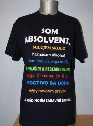 absolventske tricko bpro.sk predne vzory tlace - som absolvent...