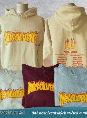 absolventská mikina plameň 300x405 - Absolventské trička - Absolventské trička