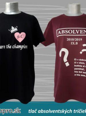 absolventské tričko champions 300x405 - Absolventské trička - Absolventské trička