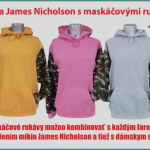 mikina JN s maskáčovými rukávmi 300x300 - Absolventské trička - Absolventské trička