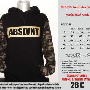 mikina maskáčový rukáv 300x300 - Absolventské trička - Absolventské trička